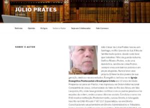 Jornalista Júlio Prates